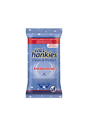 wet hankies clean & protect antibacterial 15τμχ.