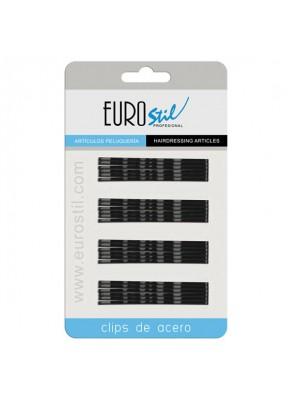 Eurostil Τσιμπιδάκια Μαύρα 70mm