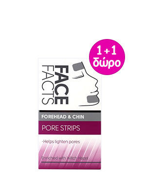 face facts forhehead & chin pore strips 6τμχ.