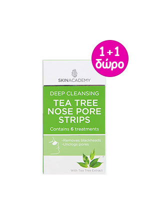 face facts tea tree nose pore strips 6τμχ.