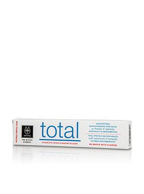 APIVITA - NATURAL DENTAL CARE Total Οδοντόκρεμα με δυόσμο & πρόπολη - 75ml