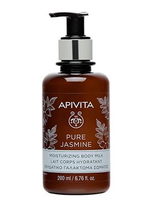Apivita Pure Jasmine Moisturizing Body Milk, Ενυδατικό Γαλάκτωμα Σώματος με Γιασεμί 200ml
