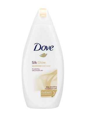 dove silk glow 700ml