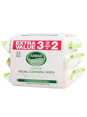 Athena Beaute Facial Cleansing Wipes 25τμχ.
