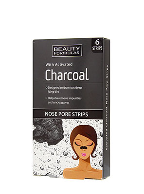 Beauty Formulas With Activated Charcoal Nose Pore Strips 6τμχ.