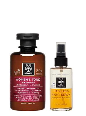 Apivita Hair Loss Night Serum με Hippophae TC & Δάφνη 100ml + Δώρο Apivita Τονωτικό Σαμπουάν Κατά της Τριχόπτωσης