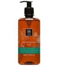 Apivita Refreshing Fig Shower Gel Αφρόλουτρο με Αιθέρια Έλαια 500ml