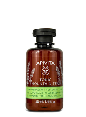 Apivita Tonic Mountain Tea Shower Gel with Essential Oils Αφρόλουτρο με Αιθέρια Έλαια, 250ml