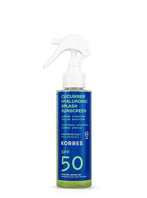 KORRES CUCUMBER HYALURONIC SPLASH 150ML SPF50
