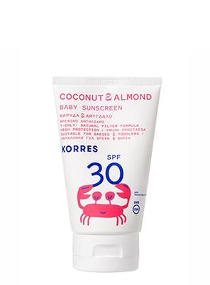 KORRES SUN BABY COCONUT & ALMOND SPF30 100ML