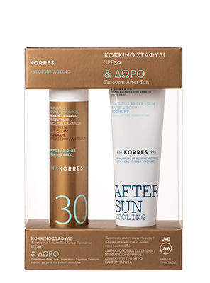 KORRES SET ΑΝΤΗΛΙΑΚΗ RED GRAPE SPF30 50ML & COOL GEL 50ML