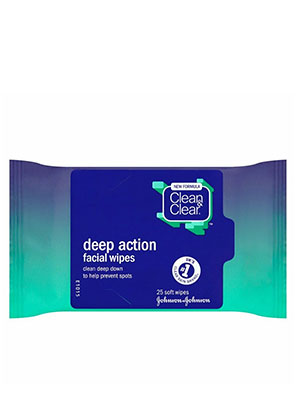 Clean & Clear Deep Action Facial Wipes 25τμχ.