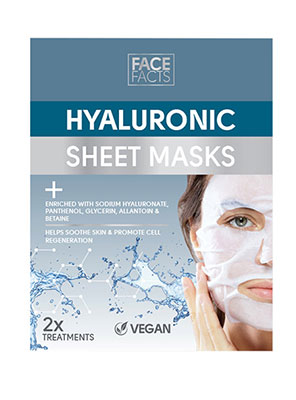 face facts hyaluronic sheet masks 2τμχ
