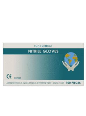 γάντια νιτριλίου μαύρα h&B global 100τεμ