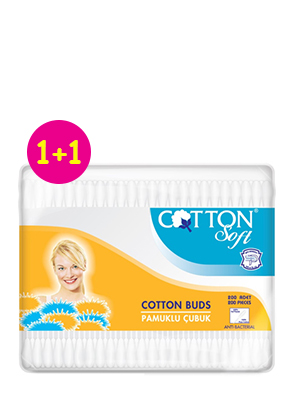 COTTON SOFT ΒΡΕΦΙΚΕΣ ΜΠΑΤ/ΤΕΣ 60ΤΕΜ 1+1 ΔΩΡΟ