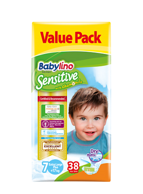 BABYLINO SENSITIVE CHAMOMILE No7 17+KG 38ΤΕΜ