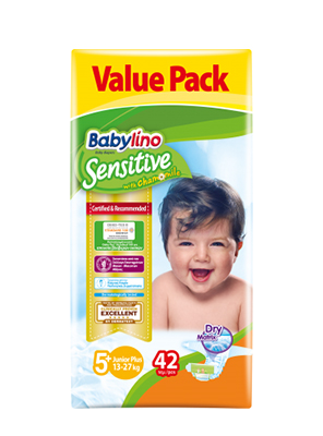BABYLINO SENSITIVE CHAMOMILE No5+ 13-27KG 42ΤΕΜ