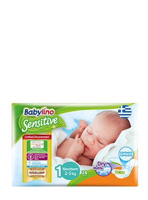 BABYLINO SENSITIVE NEWBORN No1 2-5KG 28ΤΕΜ