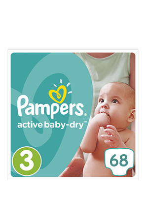 PAMPERS ACTIVE BABY DRY N3 5-9KG 68ΤΕΜ