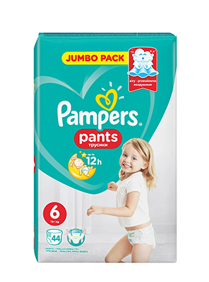 PAMPERS PANTS EXTRA LARGE No6 44ΤΕΜ