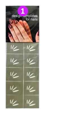 Αυτοκόλλητα stencil για σχέδια σε νύχια